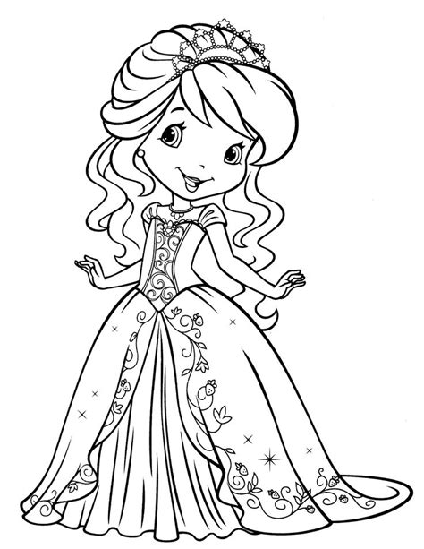 strawberry shortcake coloring pages art valla