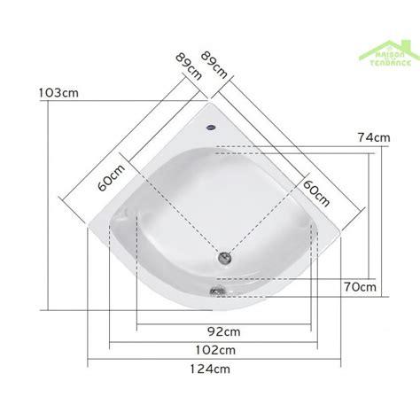 baignoire d angle acrylique mykonos 90x90 cm