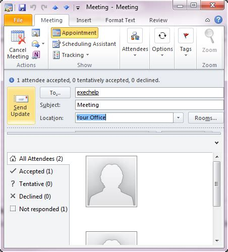 Calendar Will Not Update On Change Meeting Request Outlook 2010 And 2013
