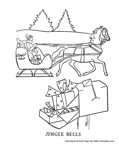coloring page one open sleigh one open sleigh clipart 35