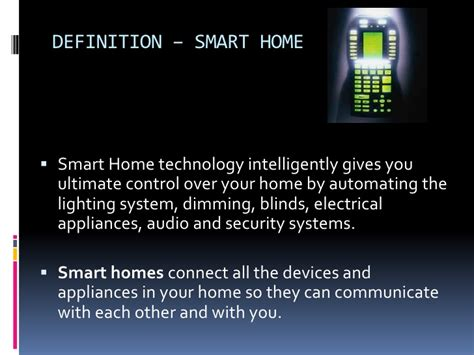 smart home technologies smart homes