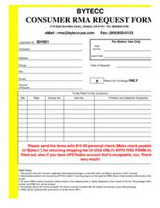 Rma Request Form Template by Best Photos Of Rma Form Template Rma Request Form
