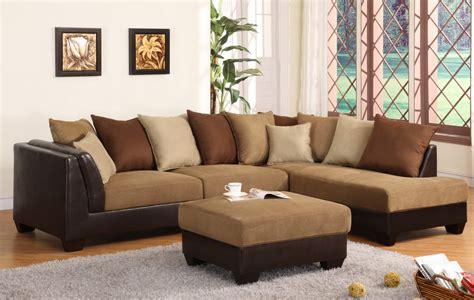 plushemisphere elegant brown sectional sofas