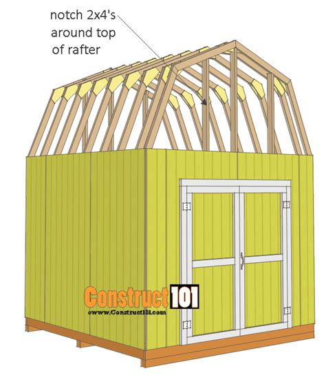 10x10 Shed Plans by 10x10 Shed Plans Gambrel Shed Construct101