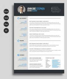 resume design templates word free ms word resume and cv template free design resources