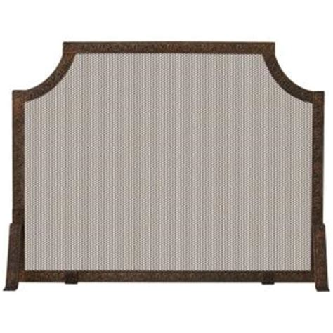 Home Depot Fireplace Screen by Uniflame Antique Copper Patina Single Panel Fireplace