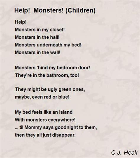 In Closet Poem by Help Monsters Children Poem By C J Heck Poem