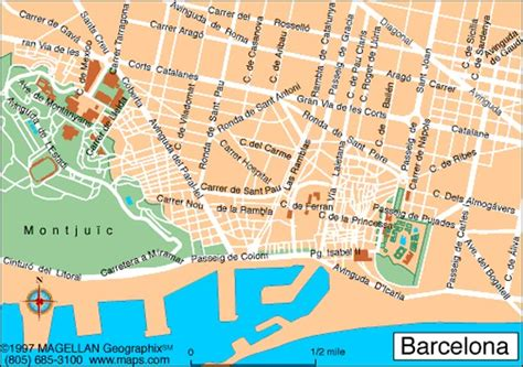 map of barcelona barcelona tourism map regional map of spain tourism region and topography