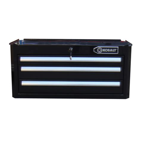 Kobalt Tool Box Drawer Slides by Kobalt 3 Drawer 27 Quot Steel Tool Box Cabinet Black Ebay