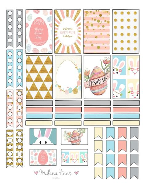 free printable easter planner freebie friday happy easter planner stickers planners