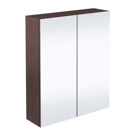 Mirror Cabinet Door by 2 Door Mirror Cabinet Brown Avola 600mm Now