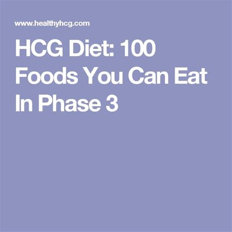 Hcg Detox Phase by Hcg Diet 100 Foods You Can Eat In Phase 3 Recipes