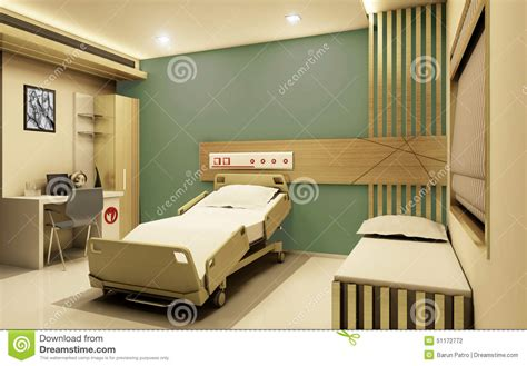 interior designers are giving the gift of organization hospital room realistic 3d view stock illustration