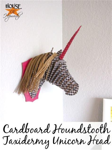 cardboard taxidermy templates cardboard houndstooth taxidermy unicorn