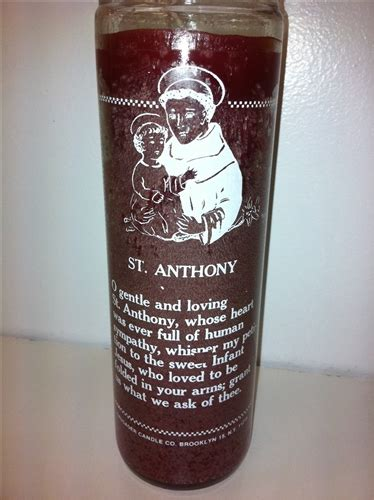 Ear Wax Candle San Antonio by Anthony Seven Day Candle In Glass San Antonio De Padua Candle