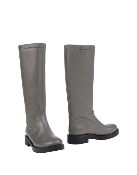 lead boots jil sander navy boots in gray lyst