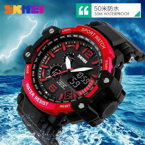 Jam Tangan Outdoor Skmei Casio Sport Led Water Resistant Kuning jam tangan casio surabaya jualan jam tangan wanita