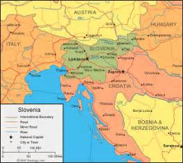 Where Is Slovenia On The World Map by Slovenia Map And Satellite Image