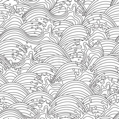 ocean pattern vector sea wave background seamless pattern vector illustration