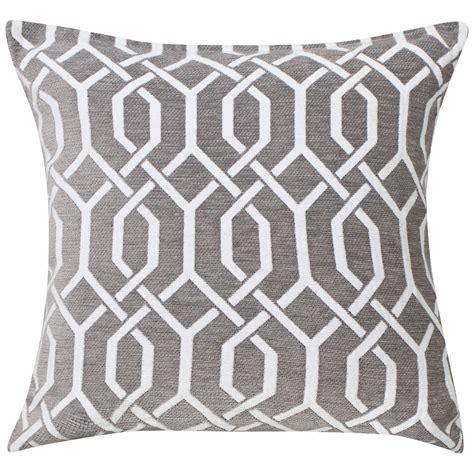 grey patterned cushions valencia geometric cushion cover k living