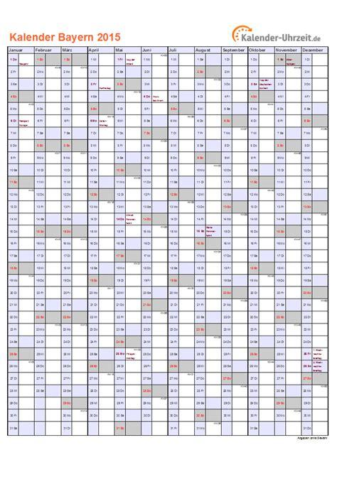 Kalender 2015 Din A4 Feiertage 2015 Bayern Kalender