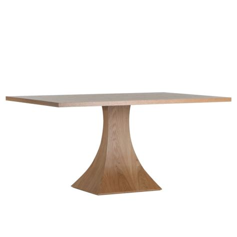pedestal rectangular dining table modern wood interior