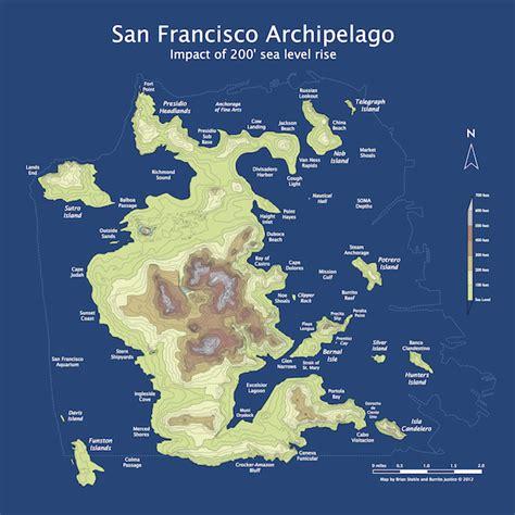 san francisco islands map sf 200 sea level rise burrito justice