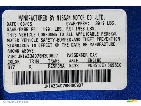 nissan blue paint code 2006 nissan 350z touring upcomingcarshq com