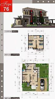 denah desain rumah minimalis modern 4 kamar tidur 3d 2 house design floor plan