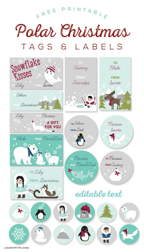 printable labels and tags for gifts worldlabel polar labels and tags worldlabel