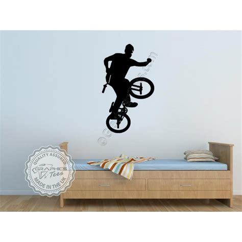 bedroom wall stickers for boys bmx bike stickers boys girls bedroom wall mural decor decals