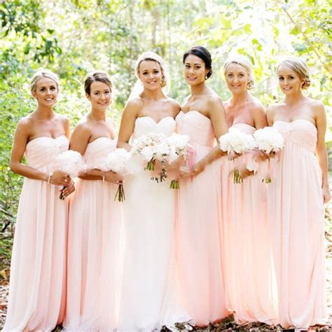 Drss 962 Flowy Roses Maxidress pretty simple blush pink chiffon sweetheart bridesmaid