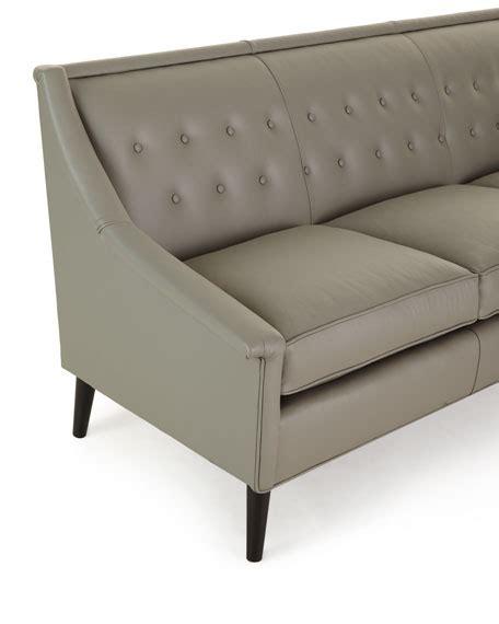 tufted back leather sofa gerald tufted back leather sofa