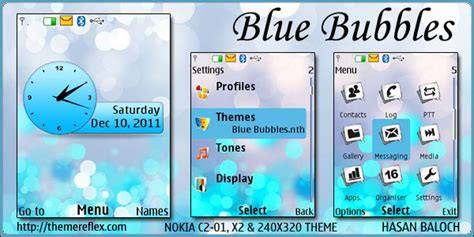 nokia c2 blue themes blue bubbles theme for nokia x2 c2 01 240 215 320 themereflex