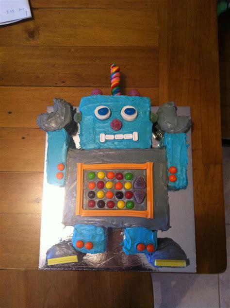 Robot Decorations robot cake decoration ideas birthday cakes