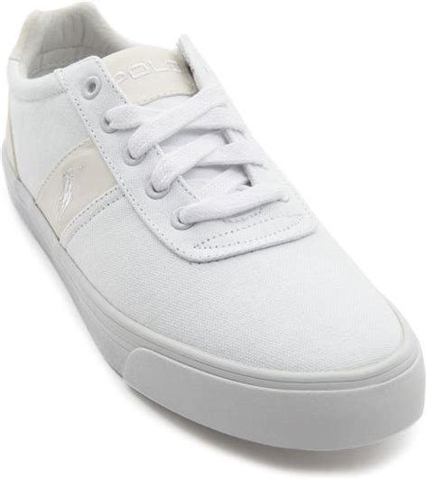 polo ralph hanford white sneakers in white for