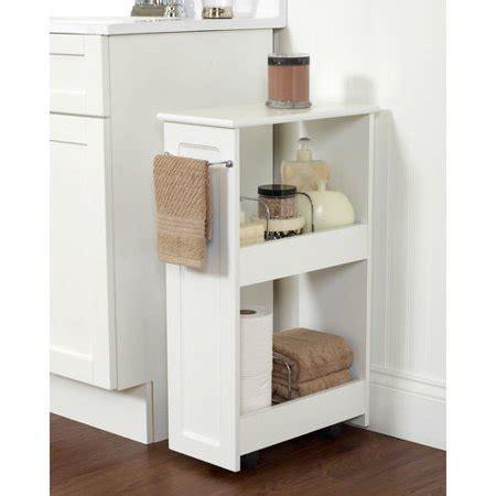bathroom storage cart zenith products 2 shelf rolling bath cart white walmart
