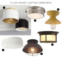 Flush Mount Kitchen Lighting Fixtures Flush Mount Lighting Fixtures 100