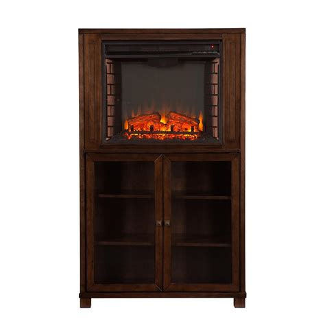 fireplace storage southern enterprises allman fireplace storage tower grayed espresso 671480 fireplaces at