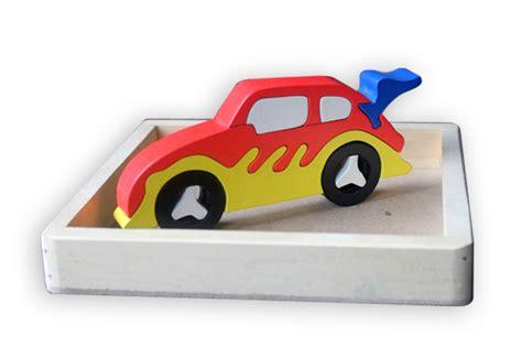Mainan Mobil Kayu Abjad puzzle kayu 3 dimensi motor mainan eduka pusat mainan