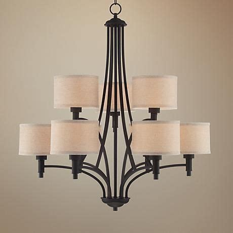 la pointe 31 quot wide oil rubbed bronze 9 light chandelier
