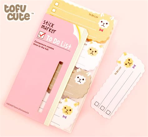 Sweet Designs Kitchen buy kawaii sticky to do list marker notes alpaca at tofu