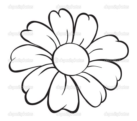 Simple Flower simple flower line drawing at getdrawings free for