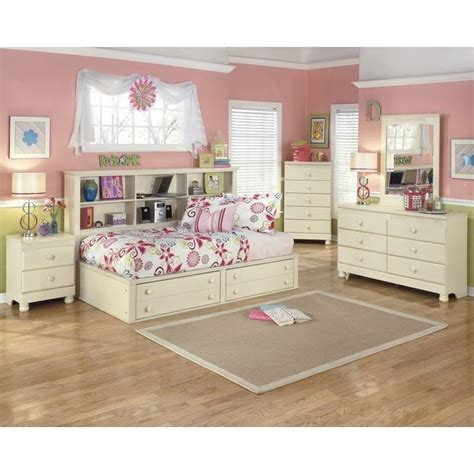 cream cottage bedroom furniture ashley cottage retreat 5 piece wood twin bookcase bedroom