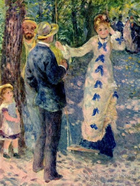 swing artists the swing 1876 pierre auguste renoir oil painting
