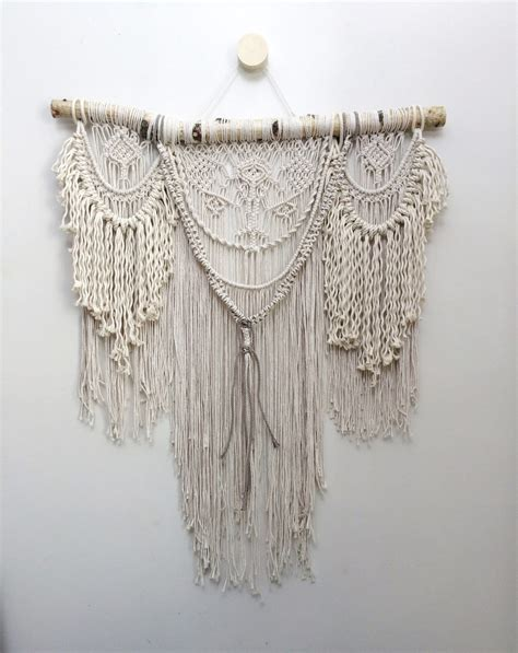 Macrame Wall Hangings - 32 large macrame wall hanging bohemian wall by niromastudio