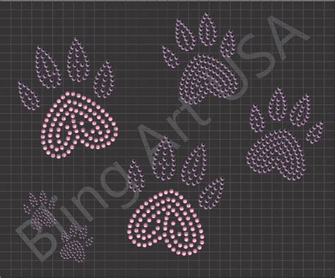rhinestone downloads file paws tracks svg plt eps pdf