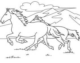 colour book horse colouring pages