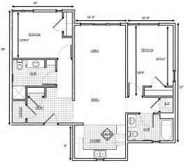 2 Bedroom Floor Plans by Gile Hill Affordable Rentals 2 Bedroom Floorplan