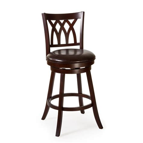 bar stools cherry wood hillsdale tateswood swivel counter stool cherry bar
